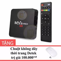 Android TV Box MXQ Pro 4K  Đen tặng Chuột không dây thời trang