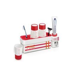 Bộ dụng cụ để bàn chải và nhả kem đánh răng tự động  3 cốc FINE