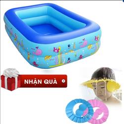 Bể bơi bằng nhựa PVC cao cấp 2 tầng, tặng kèm 01 mũ tắm