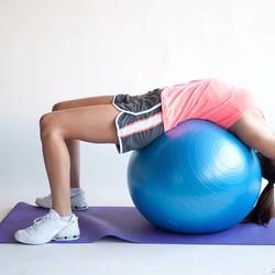 Bóng tập yoga 75 cm tặng kèm bơm bóng