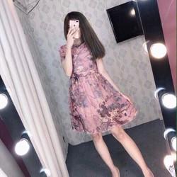 Đầm hoa tay ngắn dễ thương