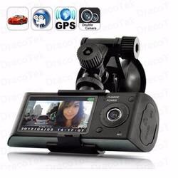 CAMERA HÀNH TRÌNH X3000 2 CAMERA +GPS, HD CAR DVR X3000 R300
