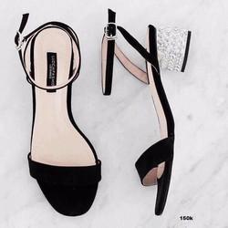 Giày sandal cao gót đế đính cườm