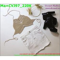 Chân váy jean màu trắng tua rua phần chân váy thời trang CVJ97