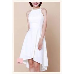 Đầm mullet yếm trắng