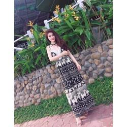 Đầm maxi thổ cẩm