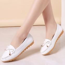 Giày mọi thắt nơ  da PU GF59010662