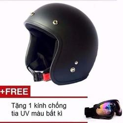 Mũ bảo hiểm Moto đi phượt tặng kính