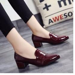 Giày đế thấp da bóng cao cấp