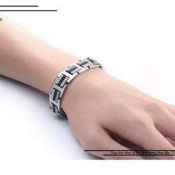 Lắc tay inox nam thời trang phong cách Hàn Quốc độc đáo đẹp giá rẻ