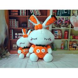 Quà tặng thú nhồi bông thỏ ôm carrot 50cm