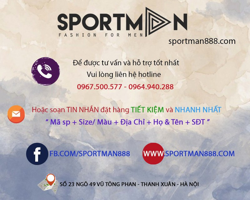 DÉP XĂNG-ĐAN DA THỜI TRANG SPORTMAN - D2 1