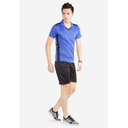 Bộ quần áo thể thao nam MCB-6128 xanh bích phối đen