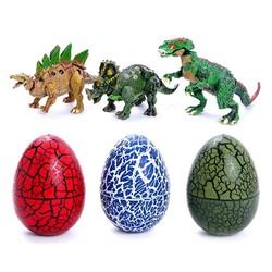 Combo 03 mô hình trứng khủng long nở con lắp ghép sinh động