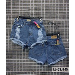 Quần short jean lưng cao