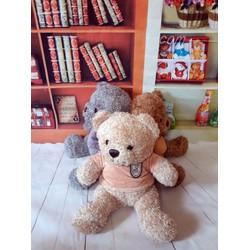 Quà tặng thú bông gấu bông áo nhung thêu gấu 40cm