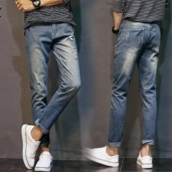 Quần nam jean xịn phong cách trẻ trung túi sau cá biệt-144
