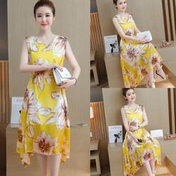 Đầm họa tiết mùa hè xinh xắn - hàng nhập Quảng Châu