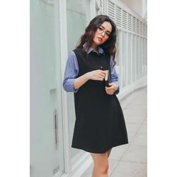 Đầm suông sơ mi đen