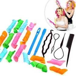 Bộ uốn tóc không nhiệt Magic Leverag + 4 dụng cụ tạo kiểu tóc