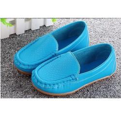 Giày trẻ em mọi trơn bé trai màu xanh
