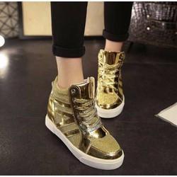 giày sneaker nữ cá tính màu vàng cực đẹp