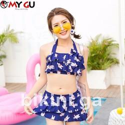 Bộ bikini xinh xắn, đáng yêu BI05 - Màu xanh mực