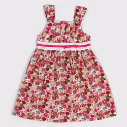Đầm xòe 2 dây họa tiết hoa cho bé