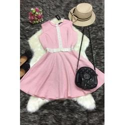 Đầm hồng xòe Cao Cấp
