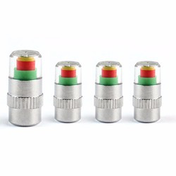 Bộ 4 nút gắn van hơi lốp xe cảnh báo áp suất lốp xe hơi.