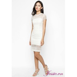 Đầm Ren Trắng Cung Cấp Bởi Jessie Boutique