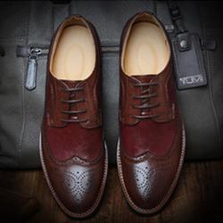 Giày công sở da cao cấp chính hãng - Giày Oxford brouge - Giày tây nam