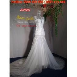 áo cưới đuôi cá AC429