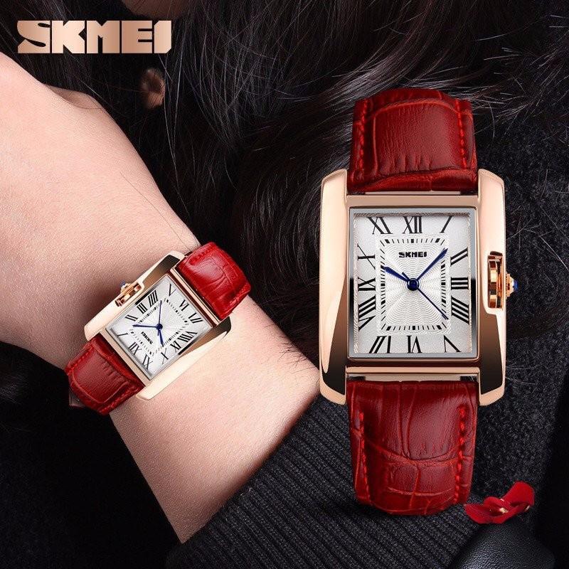 Đồng hồ nữ dây da SKMEI 1