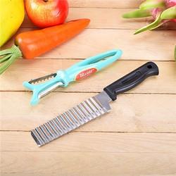 Combo dụng cụ bào sợi đa năng + dao cắt răng cưa inox