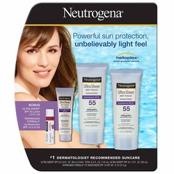 Set kem chống nắng Neutrogena Ultra Sheer Dry Touch Suncreen SPF55
