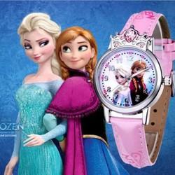 Hộp quà tặng đồng hồ công chúa ELsa và Anna đính đá sang trọng