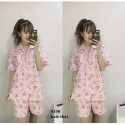 Đồ bộ pijama short kitty hàng Thái