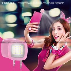Đèn LED flash 16 bóng cực sáng hỗ trợ selfie màu Hồng