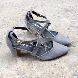 Giày sandal nữ cao gót quai chéo