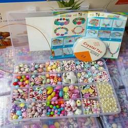 Hộp sâu vòng hạt cườm đa màu sắc,kích thước,kiểu dáng cho bé sáng tạo
