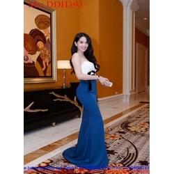 Đầm dạ hội cúp ngực phối màu sành điệu xinh đẹp DDH393