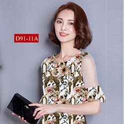 Đầm suông tay phối vol xinh xằn D91-11