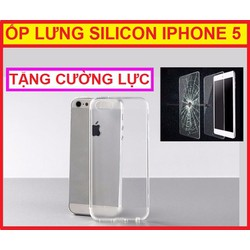 ỐP LƯNG SILICON IPHONE 5