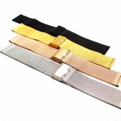 Dây đồng hồ kiểu lưới thép mỏng không gỉ Milan 18mm 20mm 22mm MS:D1704