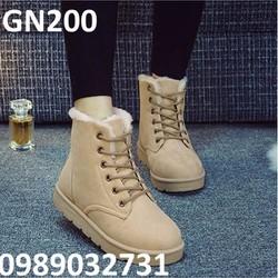 Giày bốt nữ lót lông Hàn Quốc - GN200
