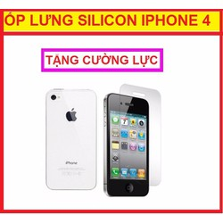 ỐP LƯNG SILICON IPHONE 4