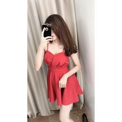 Đầm xoè kèm quần y hình