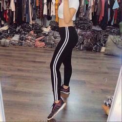 Quần legging chạy viền sọc
