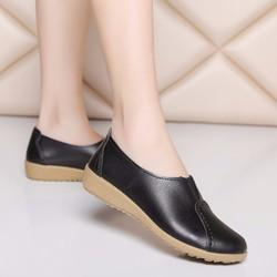Giày sneaker nữ mọi da mềm thơi trang Lady-LDG825